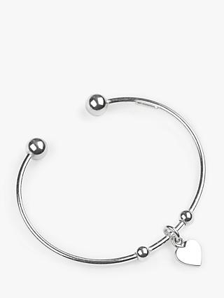 John Lewis & Partners Adjustable Charm Bangle, Silver
