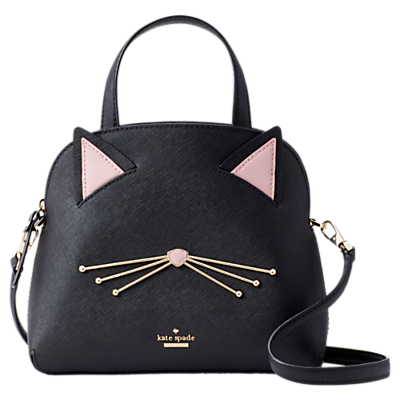 kate spade new york Cat's Meow Lottie Leather Grab Bag, Black