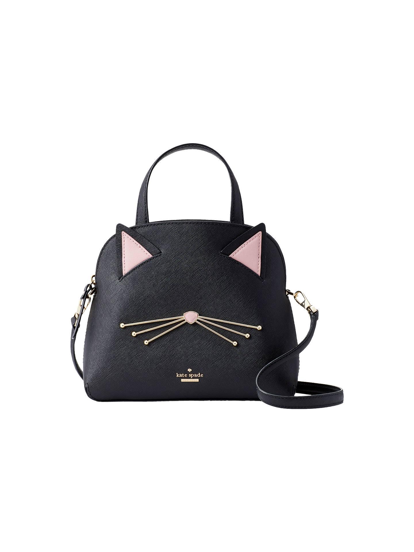 a8aaa4d8c9b6 Buy kate spade new york Cat's Meow Lottie Leather Grab Bag, Black Online at  johnlewis ...