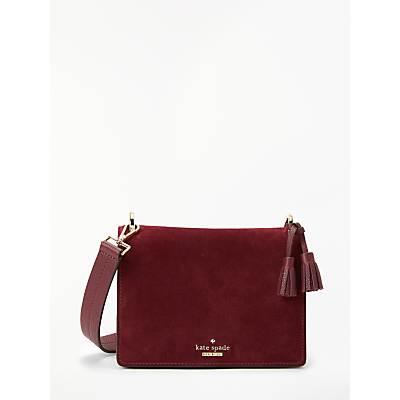 kate spade new york Hayes Street Jaime Suede Cross Body Bag, Sienna