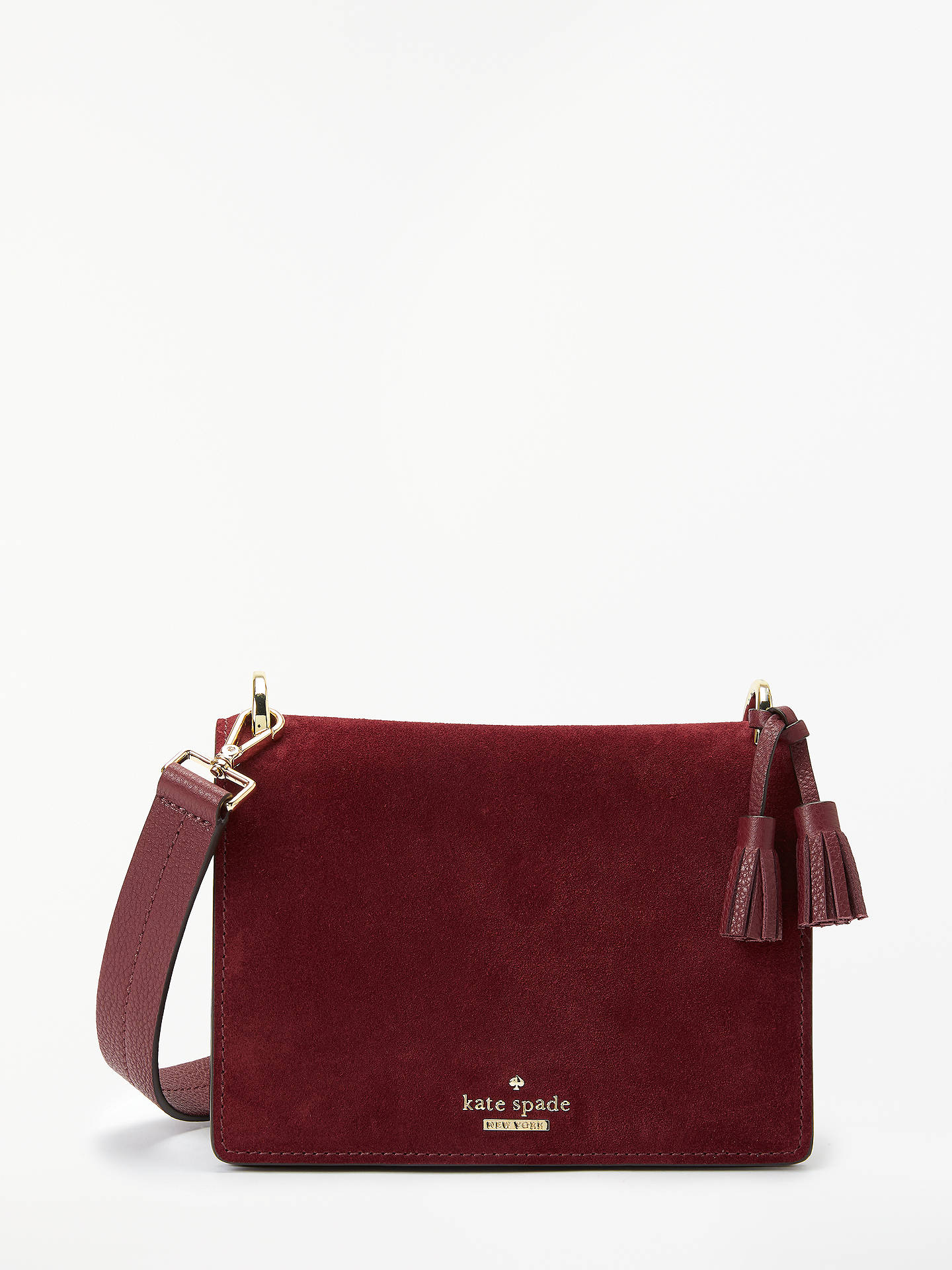 3e86273778d0 Buy kate spade new york Hayes Street Jaime Suede Cross Body Bag, Sienna  Online at ...