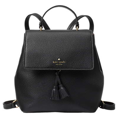 kate spade new york Hayes Street Teba Leather Backpack, Black