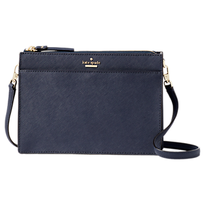 kate spade new york Cameron Street Clarise Leather Cross Body Bag, Blazer Blue