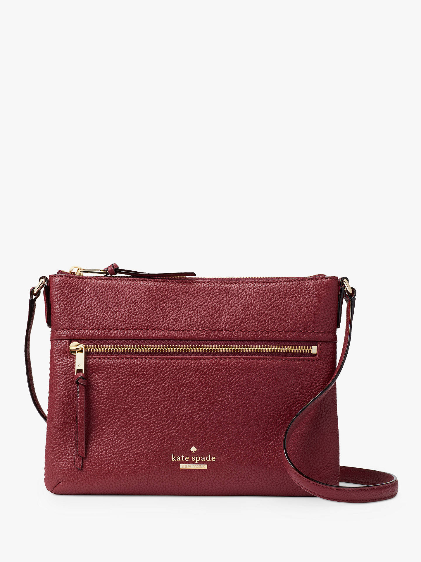 closer at 100% top quality cost charm kate spade new york Jackson Street Gabriele Leather Cross ...