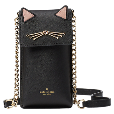 Image of kate spade new york Cat's Meow North South Cross Body Smart Phone Case, Black