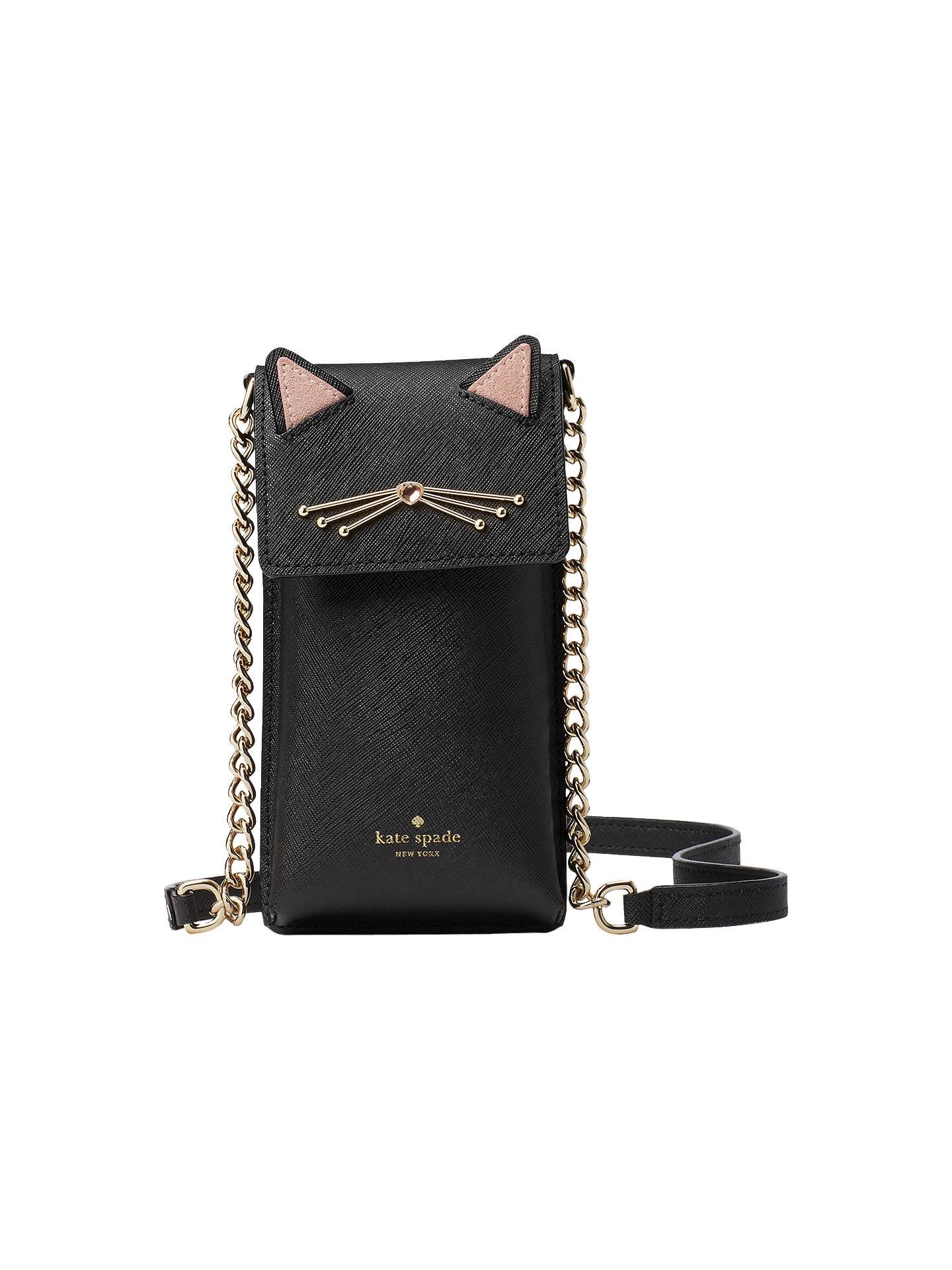 ebf19ab35cec Buy kate spade new york Cat's Meow North South Cross Body Smart Phone Case,  Black ...