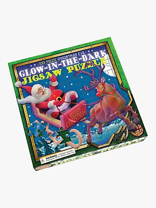 House Of Marbles Christmas Eve Glow In The Dark Jigsaw Puzzle, 100 Pieces
