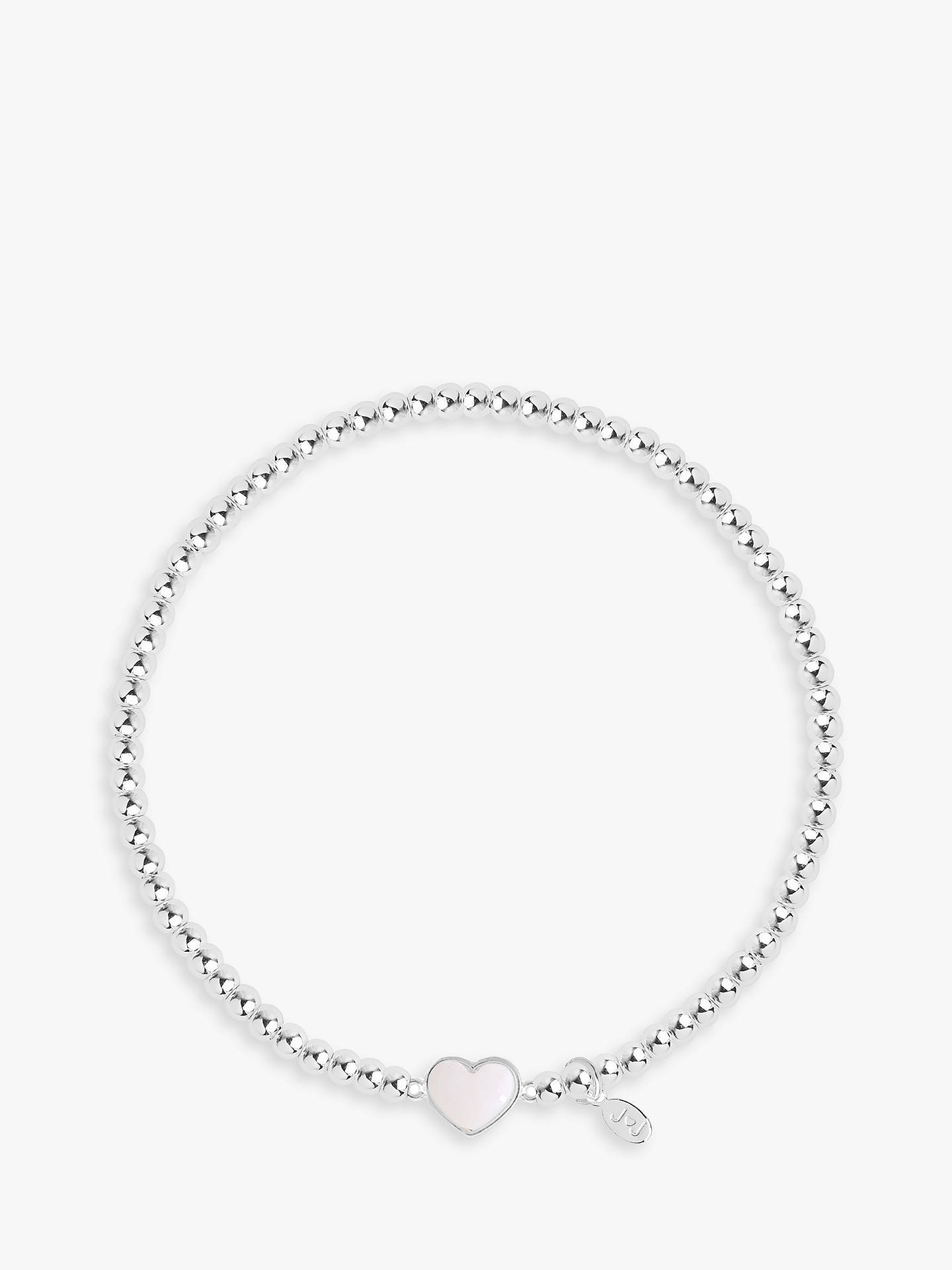 BuyJoma Jewellery Marvellous Mum Pearl Heart Charm Bracelet, Silver Online at johnlewis.com
