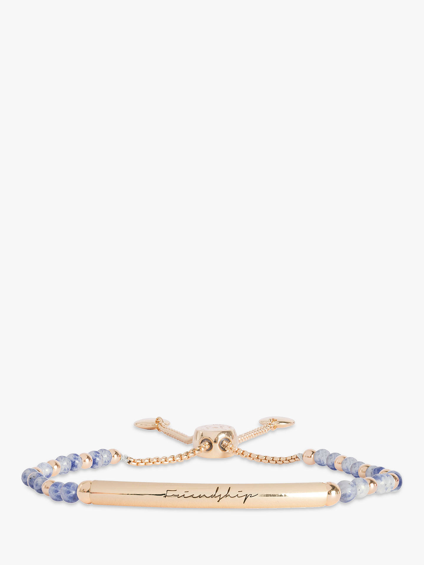Buy Joma Jewellery Friendship Bar Agate Bracelet, Gold/Blue Online at johnlewis.com