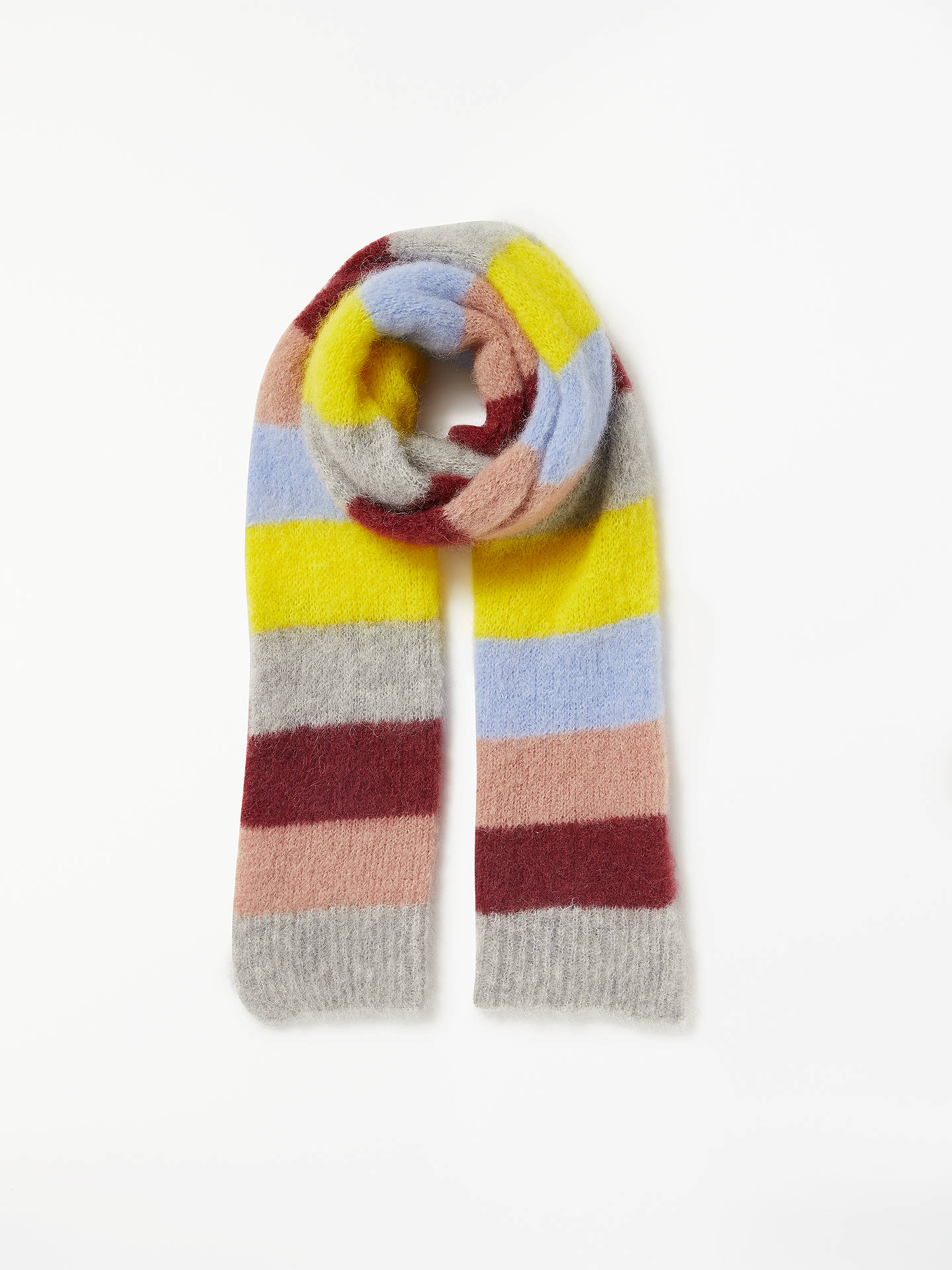 Buy Becksondergaard Gloria Mirage Stripe Scarf, Light Grey Melange Online at johnlewis.com
