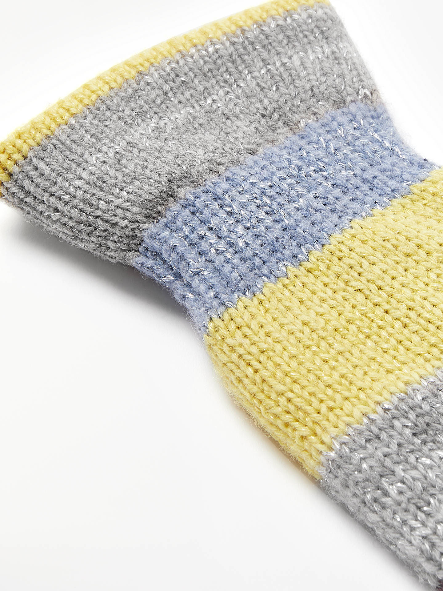 BuyBecksondergaard Em Block Mittens, Grey Multi Online at johnlewis.com
