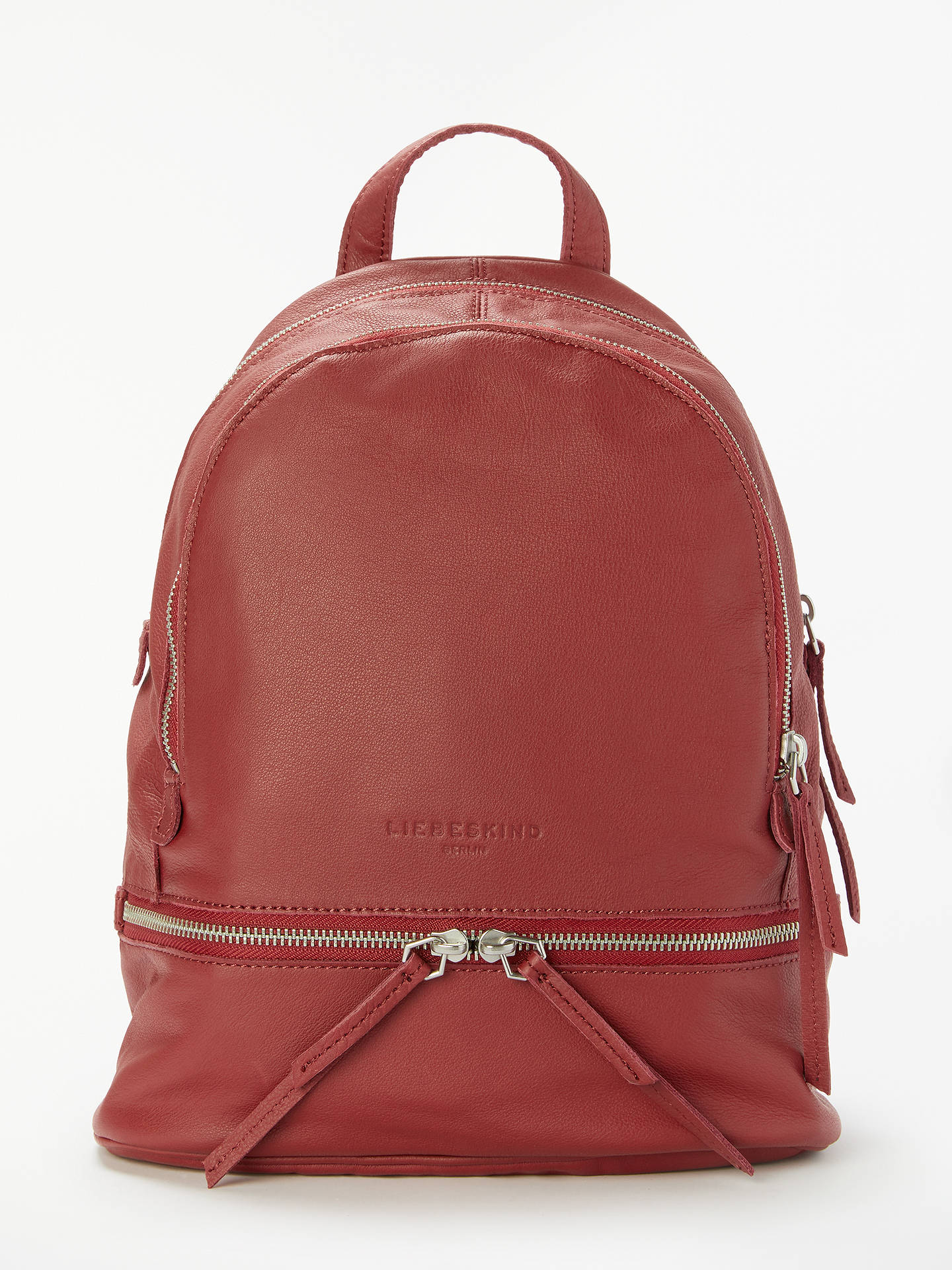 BuyLiebeskind Berlin Lotta Leather Backpack, Phonebox Red Online at  johnlewis.com ... b84561d3db