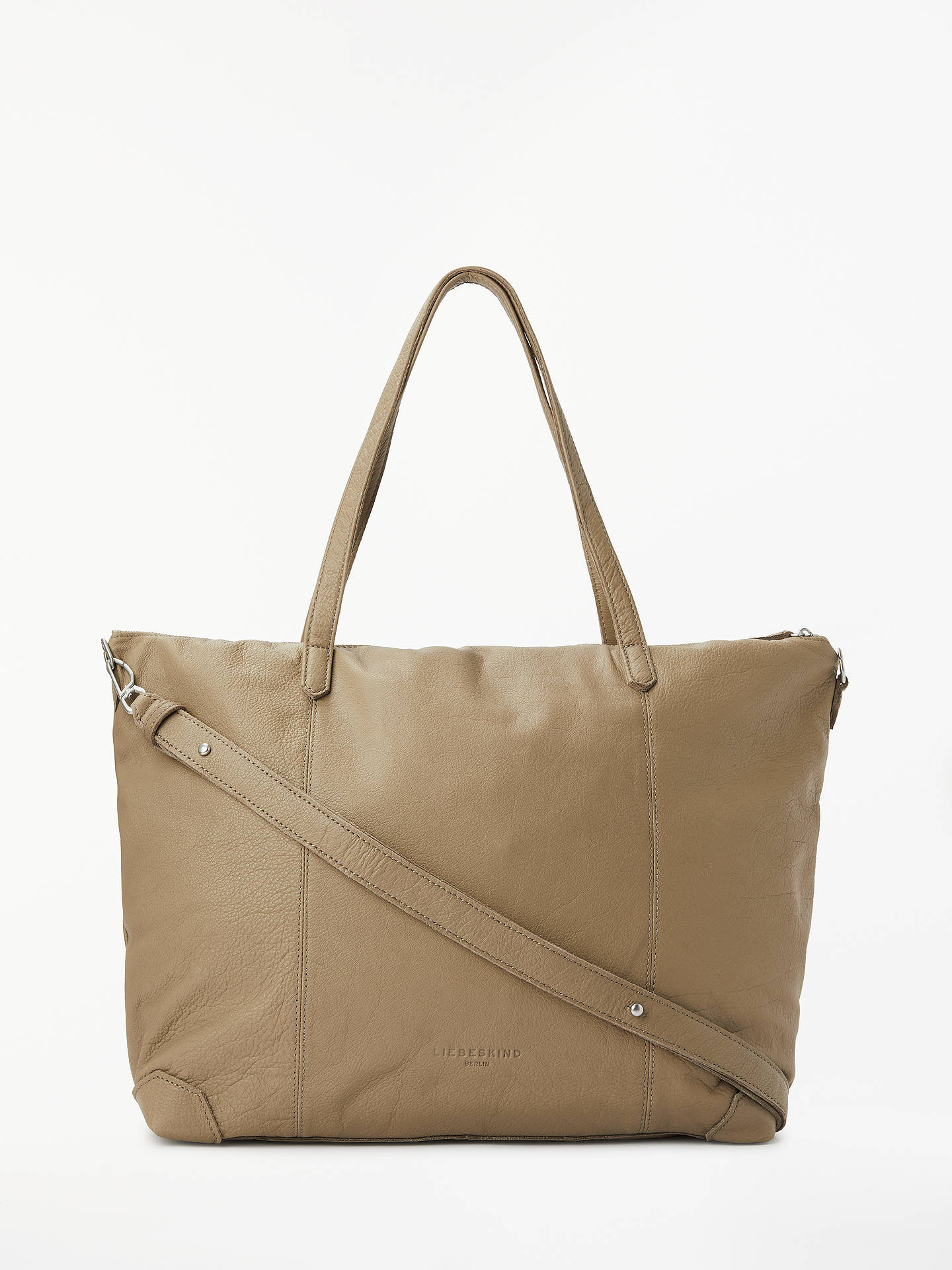 587c11ea0e Buy Liebeskind Berlin Kaethe Leather Zip Top Tote Bag, Stone Online at  johnlewis.com ...