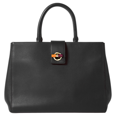 Paul Smith Leather T-Bar Lock Tote Bag
