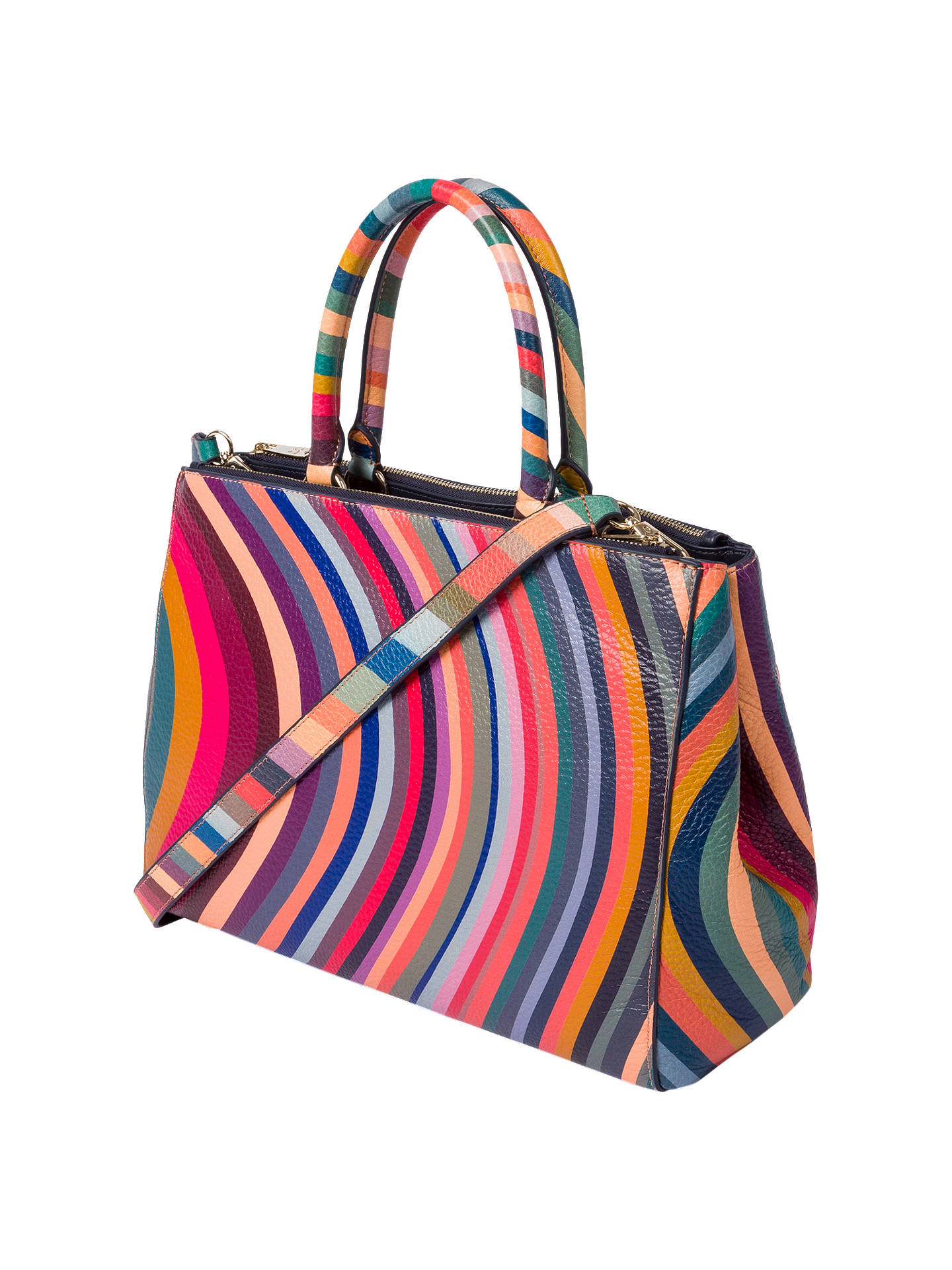 Paul Smith Leather Swirl Top Handle Tote Bag Multi Online At Johnlewis