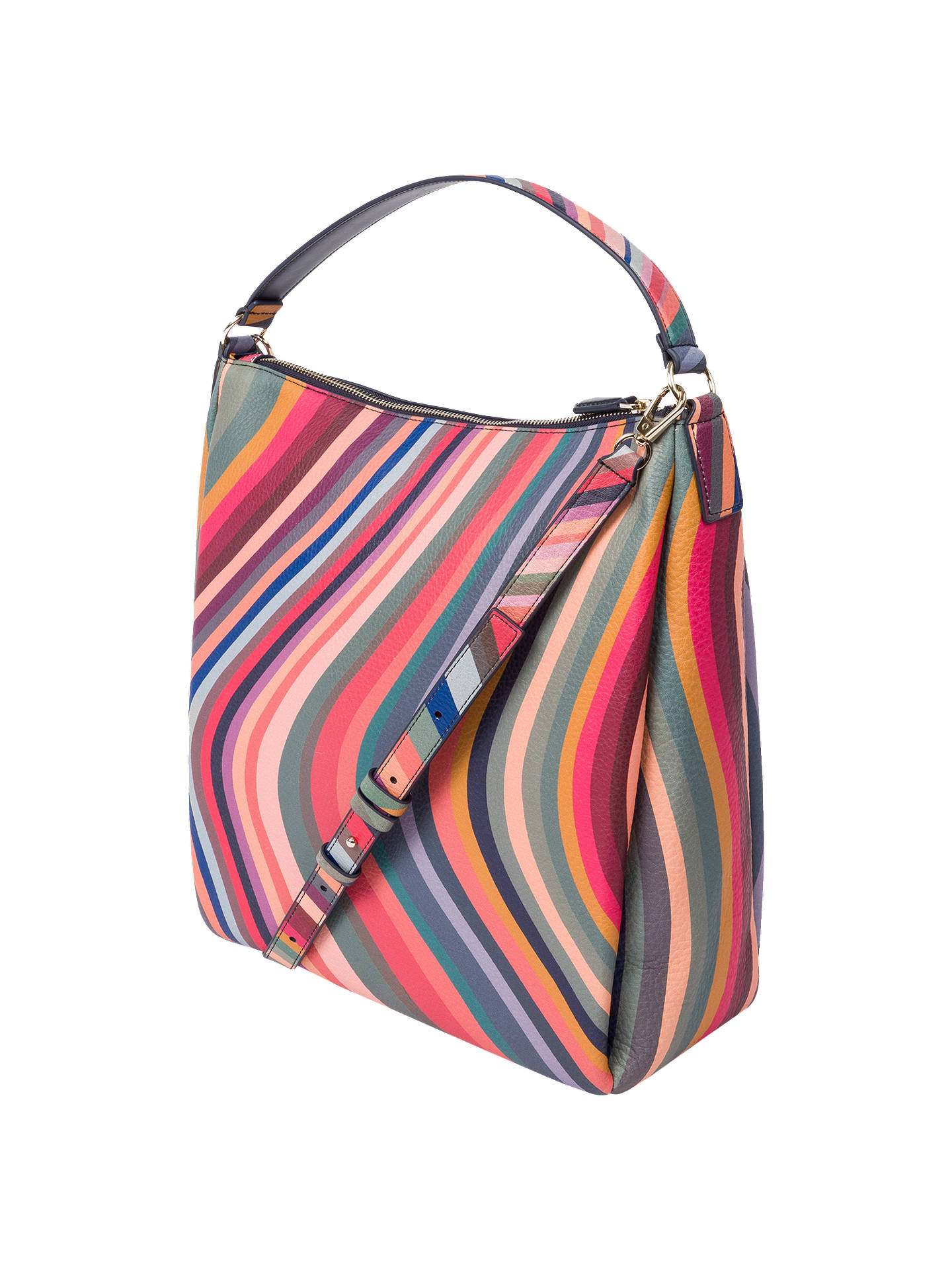 Paul Smith Leather Swirl Hobo Bag, Multi at John Lewis ...