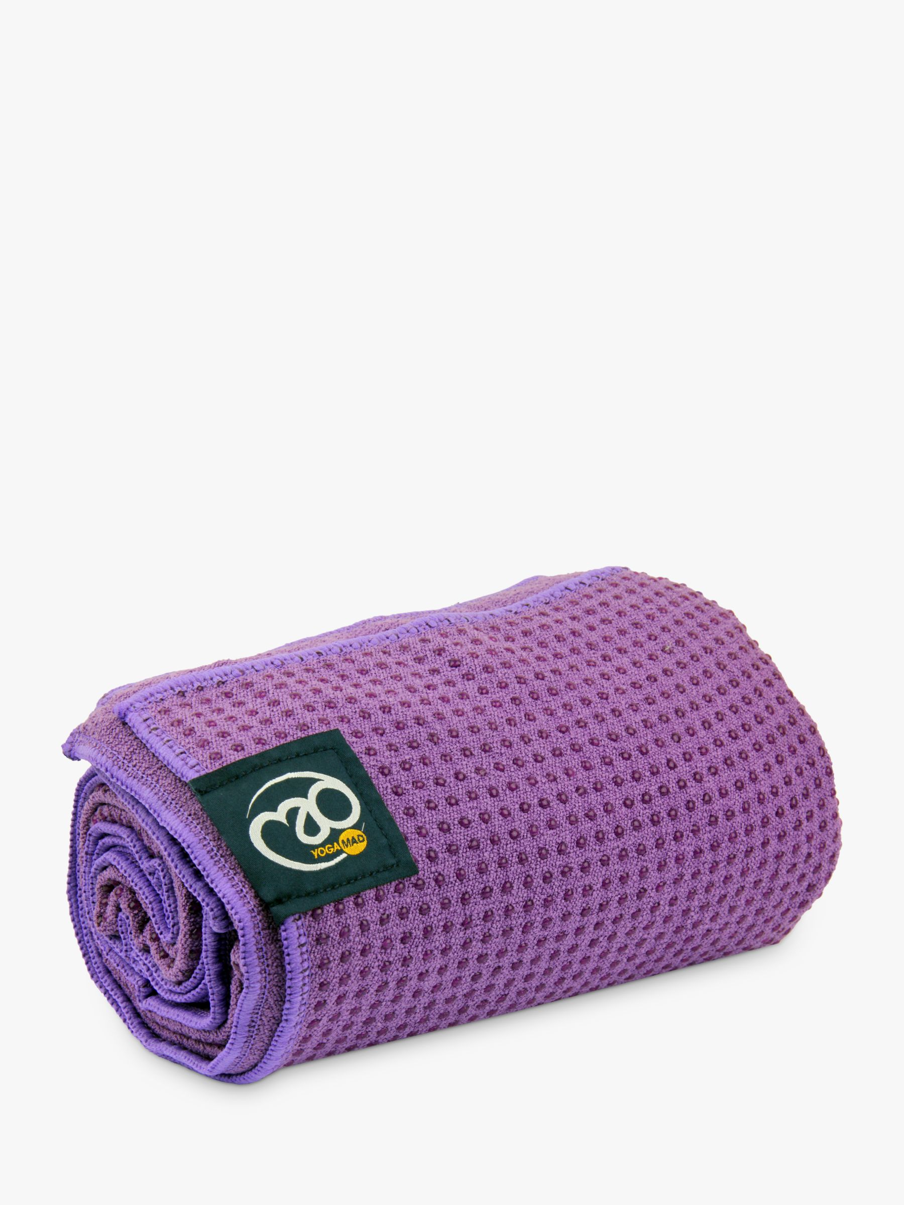Buy Fitness-Mad Grip Dot Yoga Towel, Purple Online at johnlewis.com