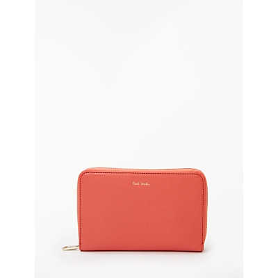 Paul Smith Leather Medium Zip Around Purse, Pink