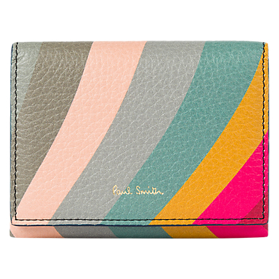 Paul Smith Swirl Leather Small Foldover Purse, Multi