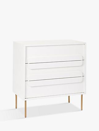 west elm Gemini 3 Drawer Chest, White