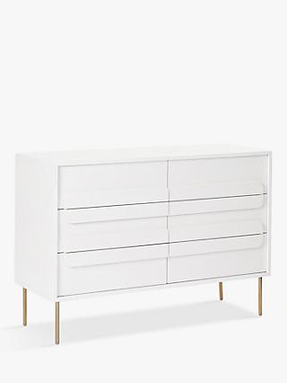 west elm Gemini 6 Drawer Chest, White