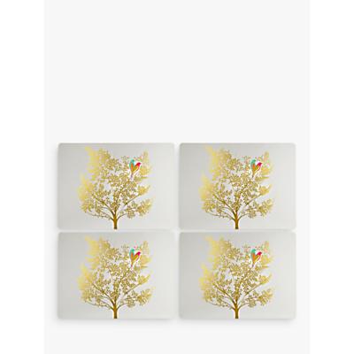 Sara Miller Bird In Tree Placemats, Gold, Set of 4