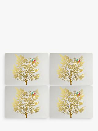 Sara Miller Bird In Tree Placemats, Gold, Set of 4