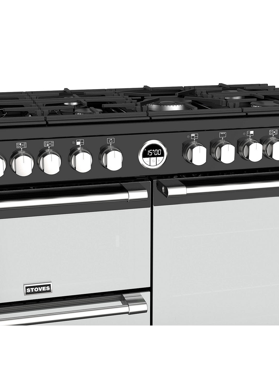 Buy Sterling Deluxe S1100DF Range Cooker, Black Online at johnlewis.com