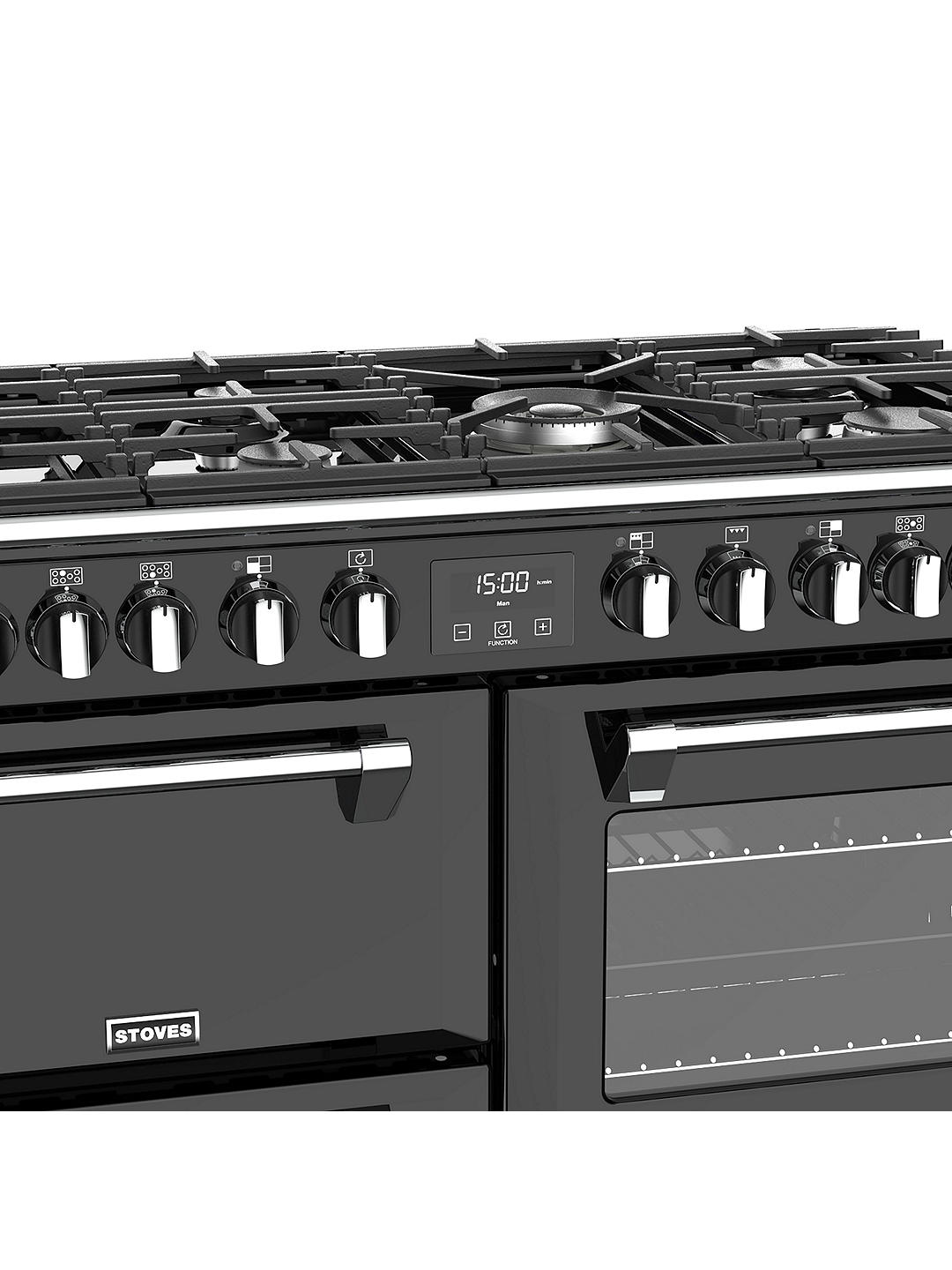 Buy Stoves Richmond S1000DF 100cm Dual Fuel Range Cooker, A Energy Rating, Black Online at johnlewis.com
