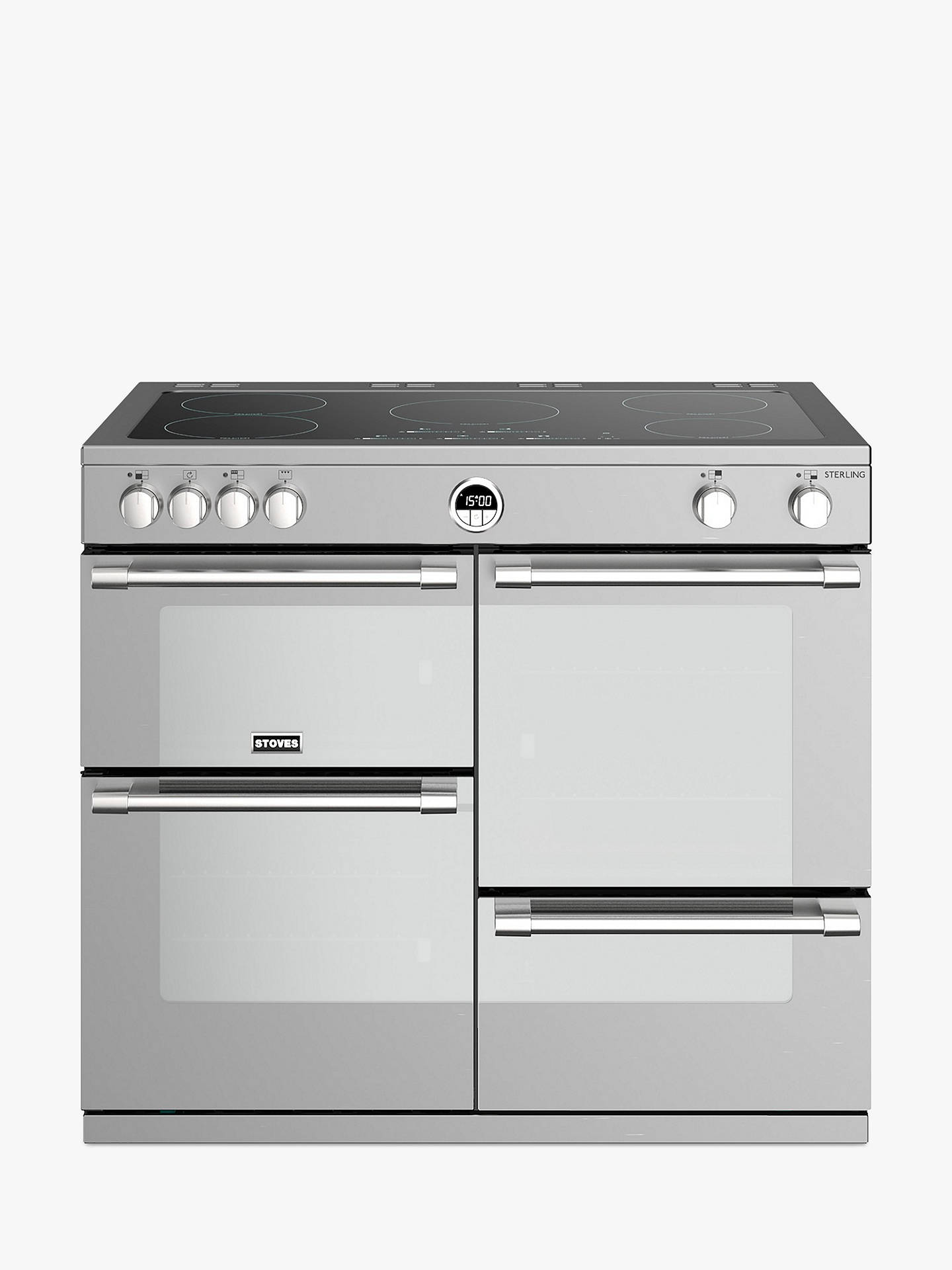 Stoves Sterling S1000ei Induction Electric Range Cooker A Energy Rating Stainless Steel Online
