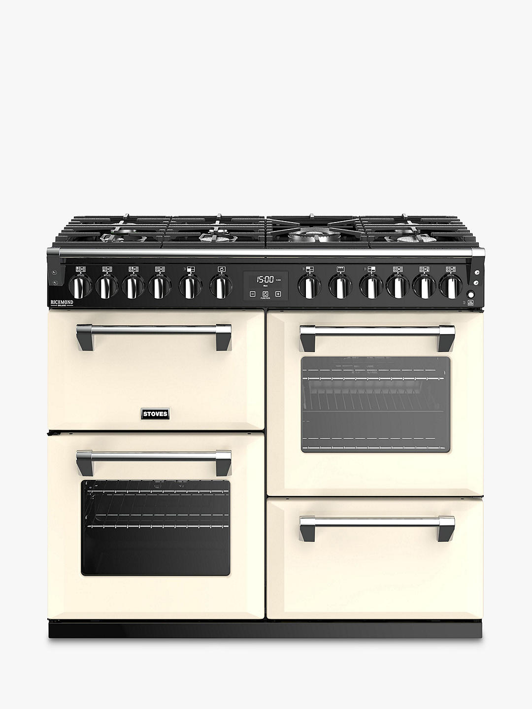 Buy Stoves Richmond Deluxe S1000DF Dual Fuel Range Cooker, Classic Cream Online at johnlewis.com