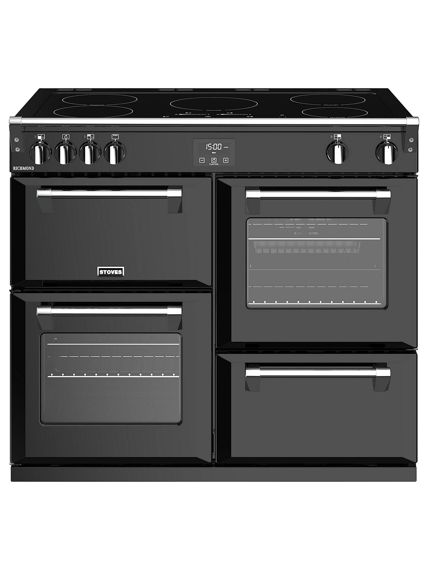 BuyStoves Richmond S1000Ei Induction Range Cooker, Black Online at johnlewis.com