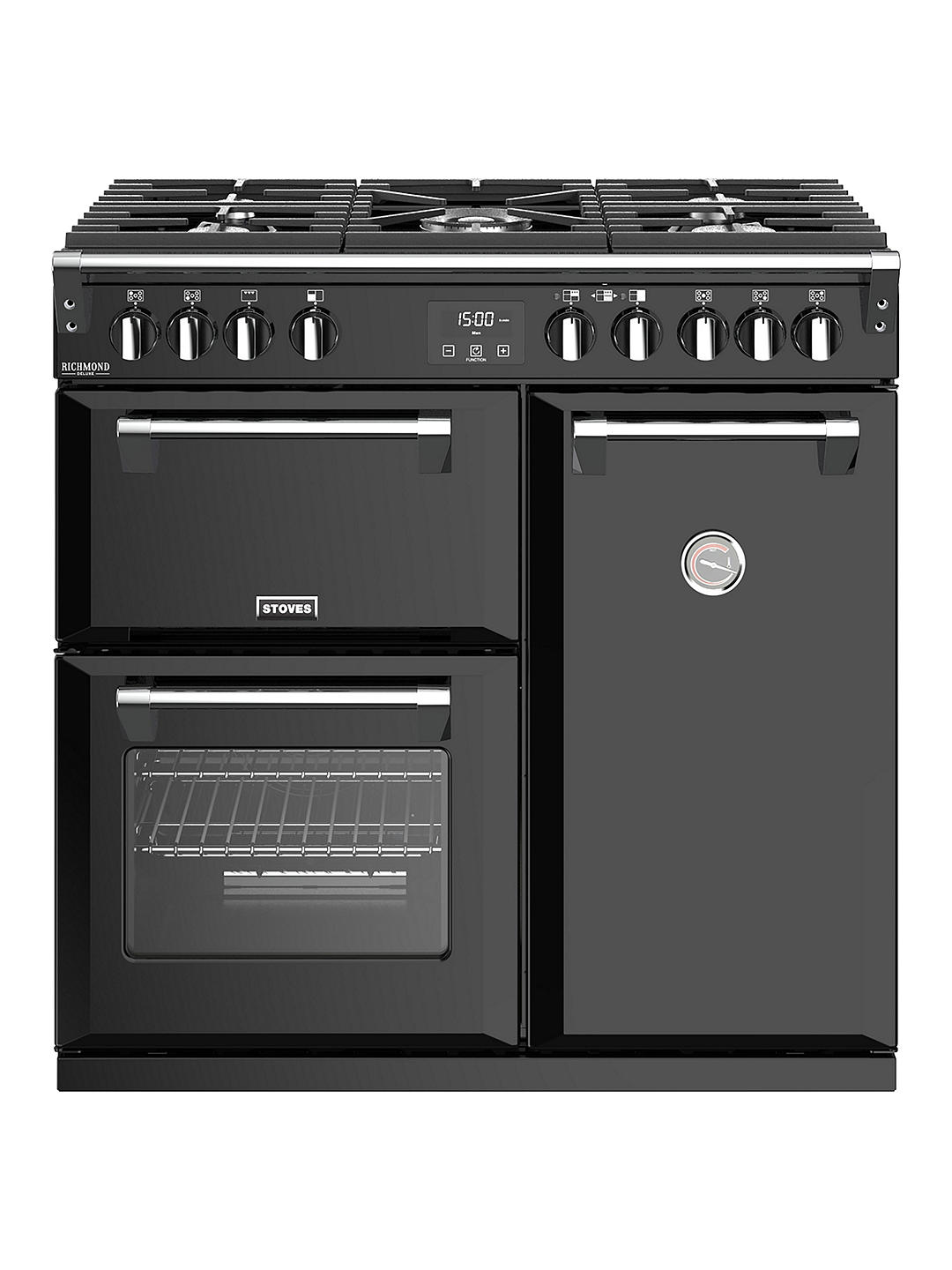 Buy Stoves Richmond Deluxe S900G Gas Range Cooker, Black Online at johnlewis.com