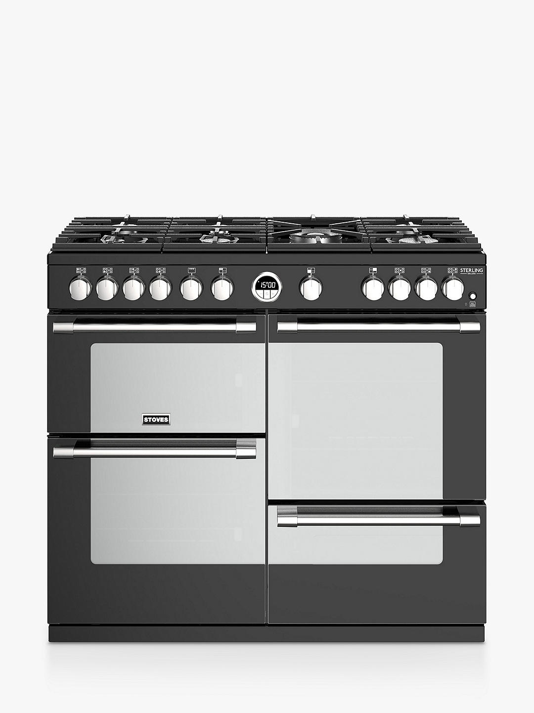 Buy Sterling Deluxe S1000G Conventional Gas Oven & Electric Grill Range Cooker, Black Online at johnlewis.com