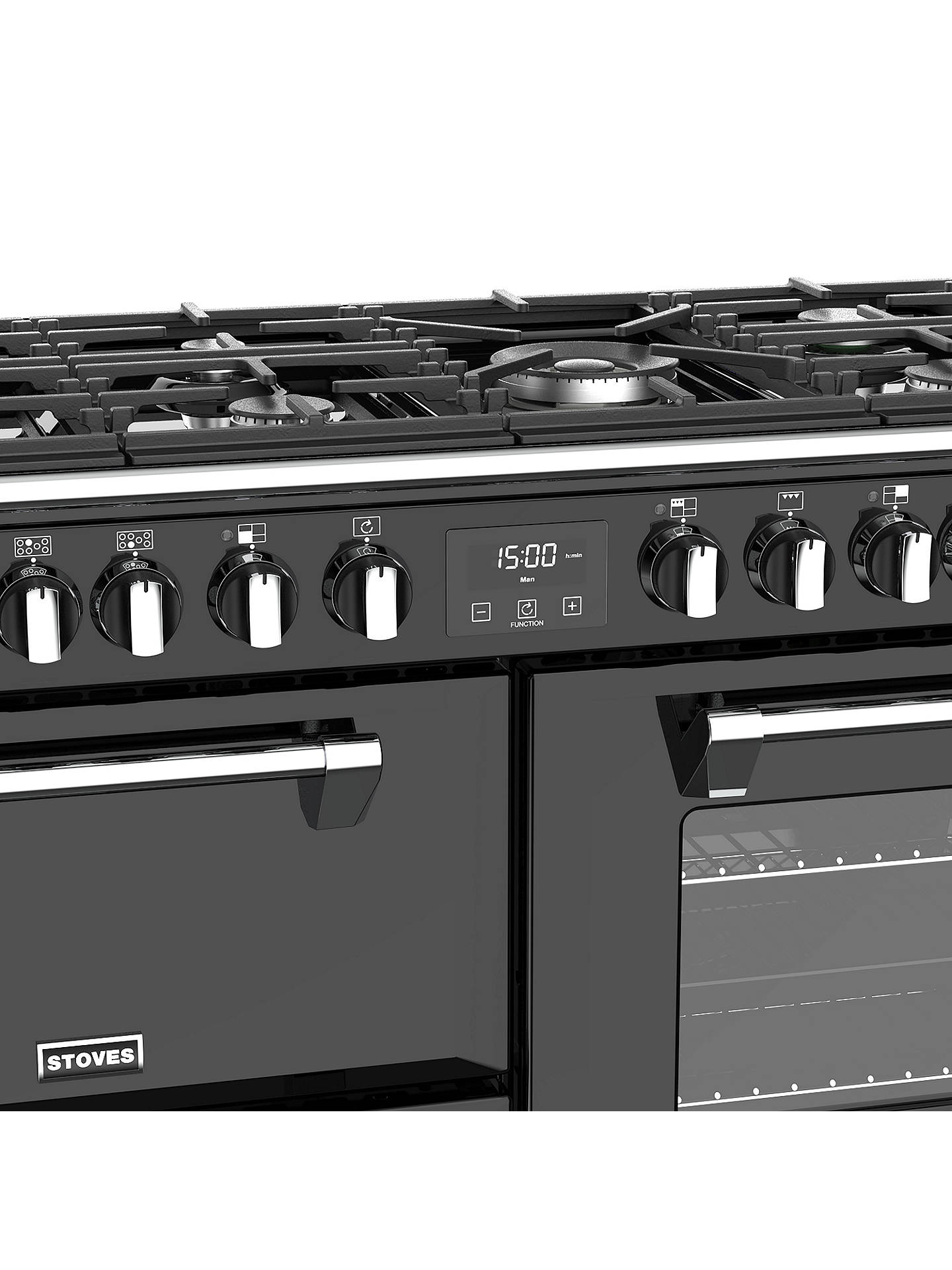 BuyStoves Richmond S1000DF Dual Fuel Range Cooker, Black Online at johnlewis.com