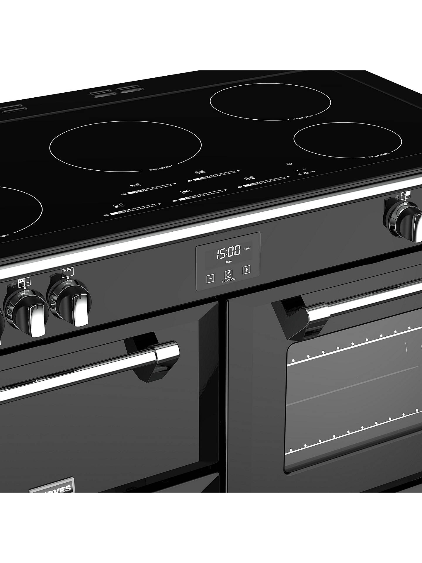 BuyStoves Richmond S1100Ei Induction Hob Range Cooker, Black Online at johnlewis.com