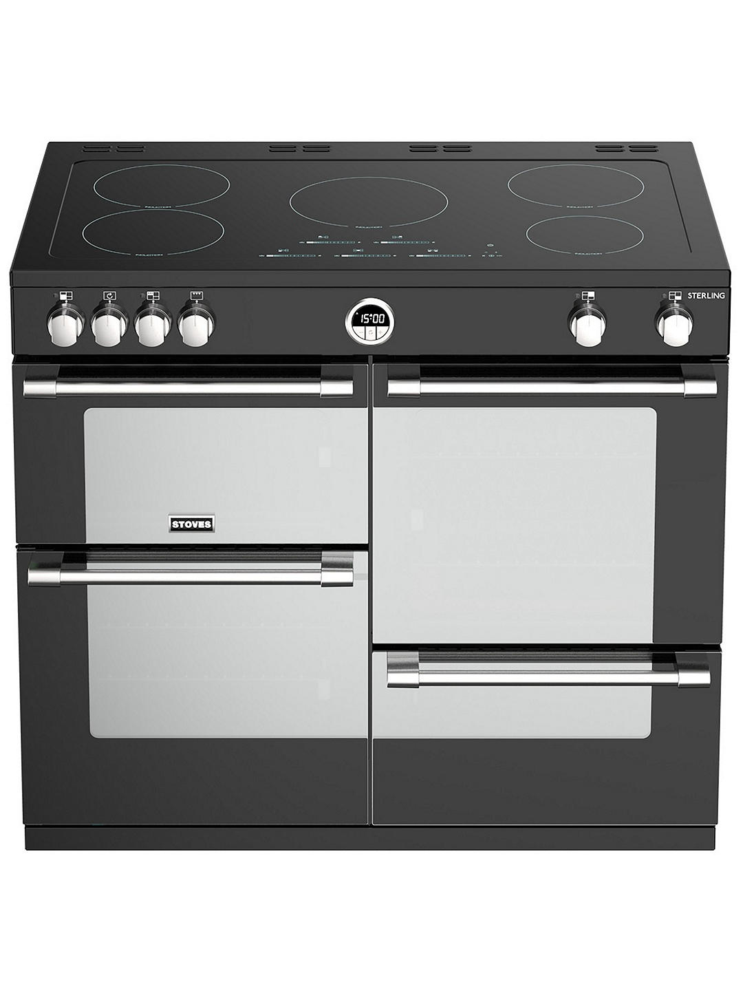 Buy Stoves Sterling S1000Ei Induction Electric Range Cooker, A+ Energy Rating, Stainless Steel Online at johnlewis.com