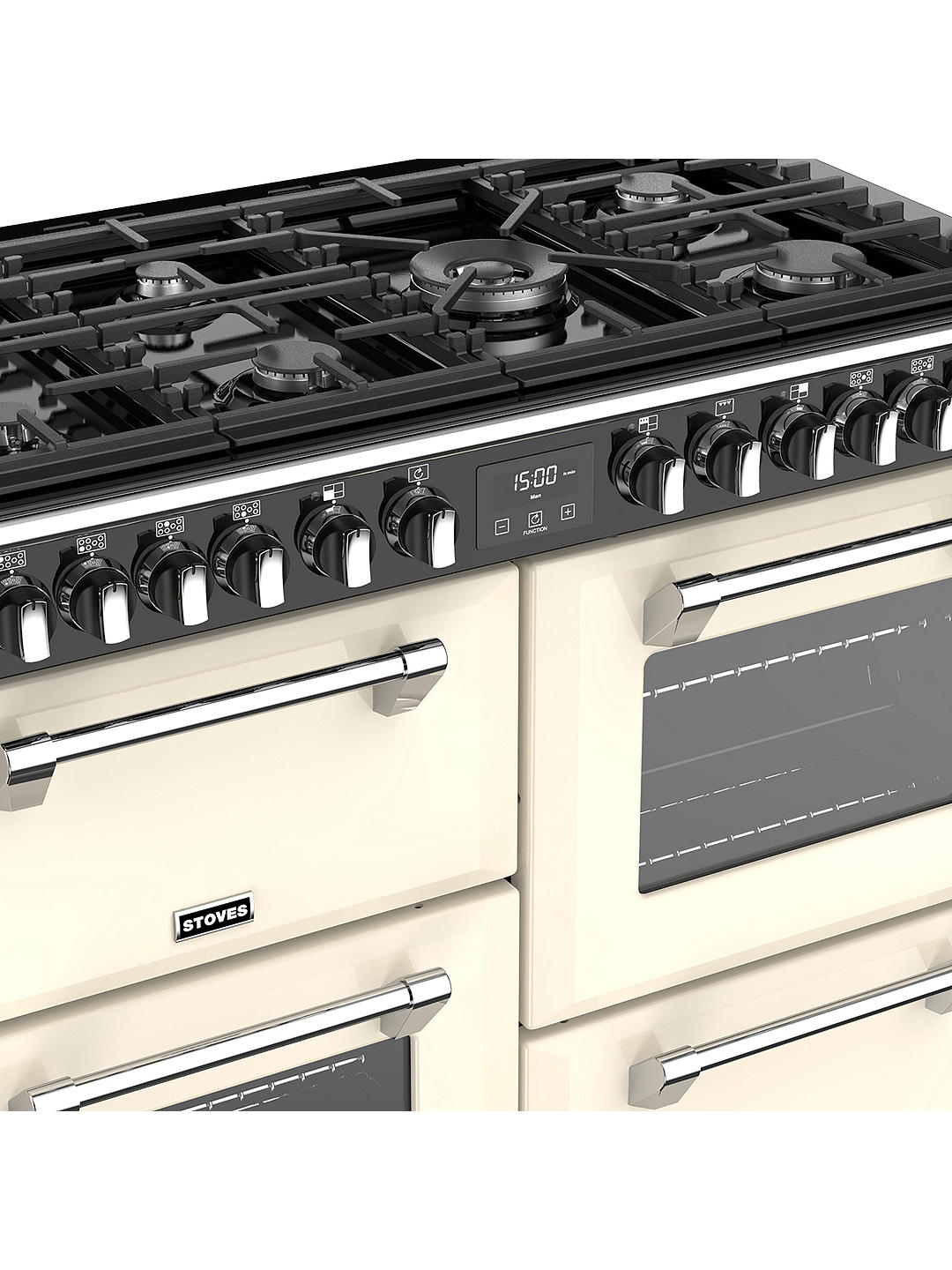 Buy Stoves Richmond Deluxe S1100DF Dual Fuel Range Cooker, Classic Cream Online at johnlewis.com