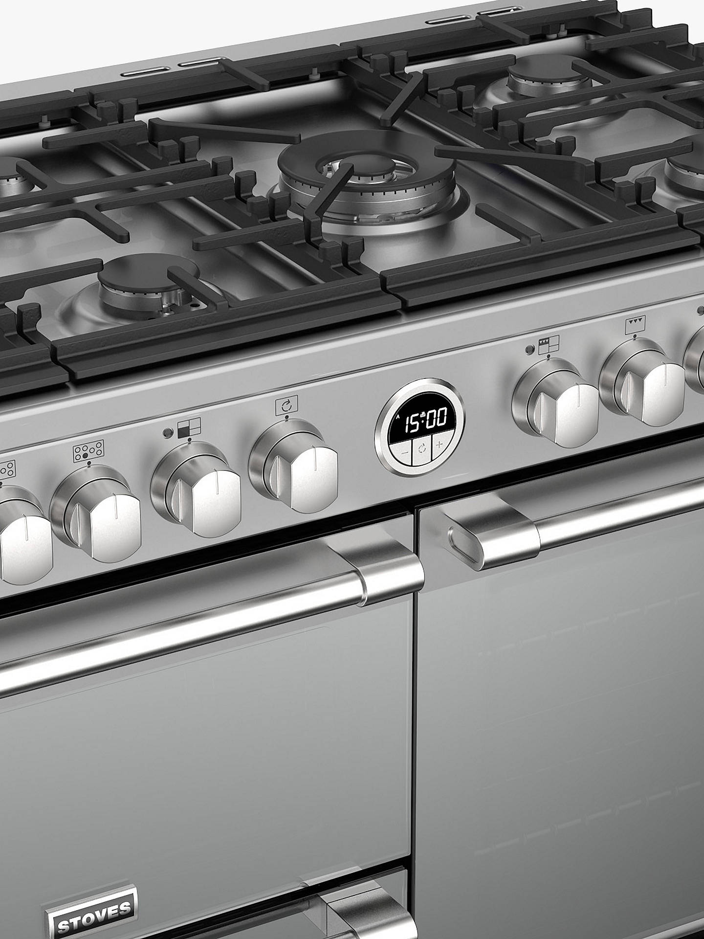 Buy Stoves Sterling Deluxe S1000DF Range Cooker, Silver Online at johnlewis.com