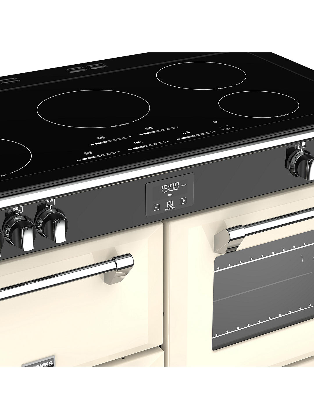 Buy Stoves Richmond S1100Ei 110cm Induction Hob Electric Range Cooker, A Energy Rating, Classic Cream Online at johnlewis.com