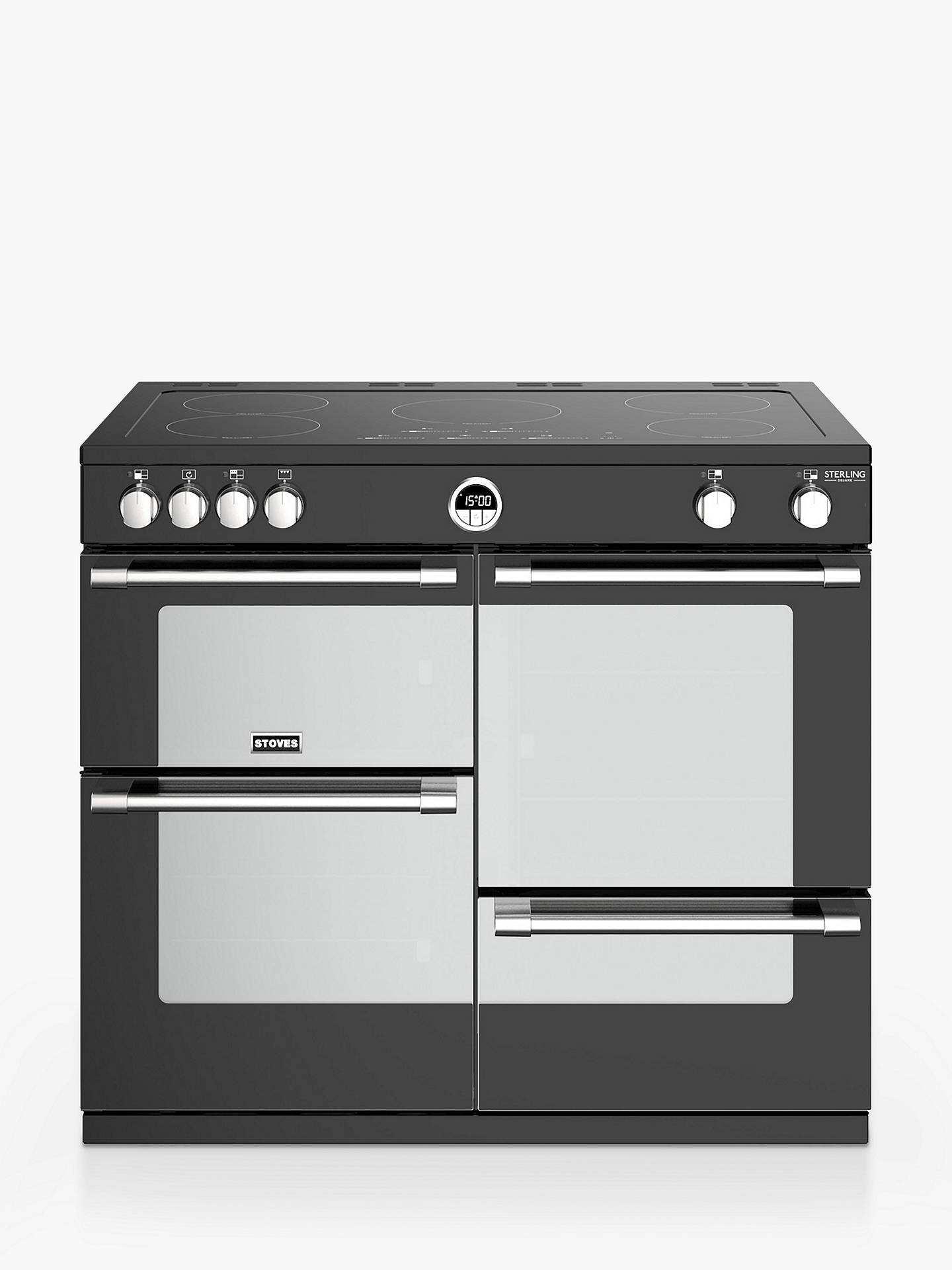 BuySterling Deluxe S1000Ei Range Cooker, Black Online at johnlewis.com