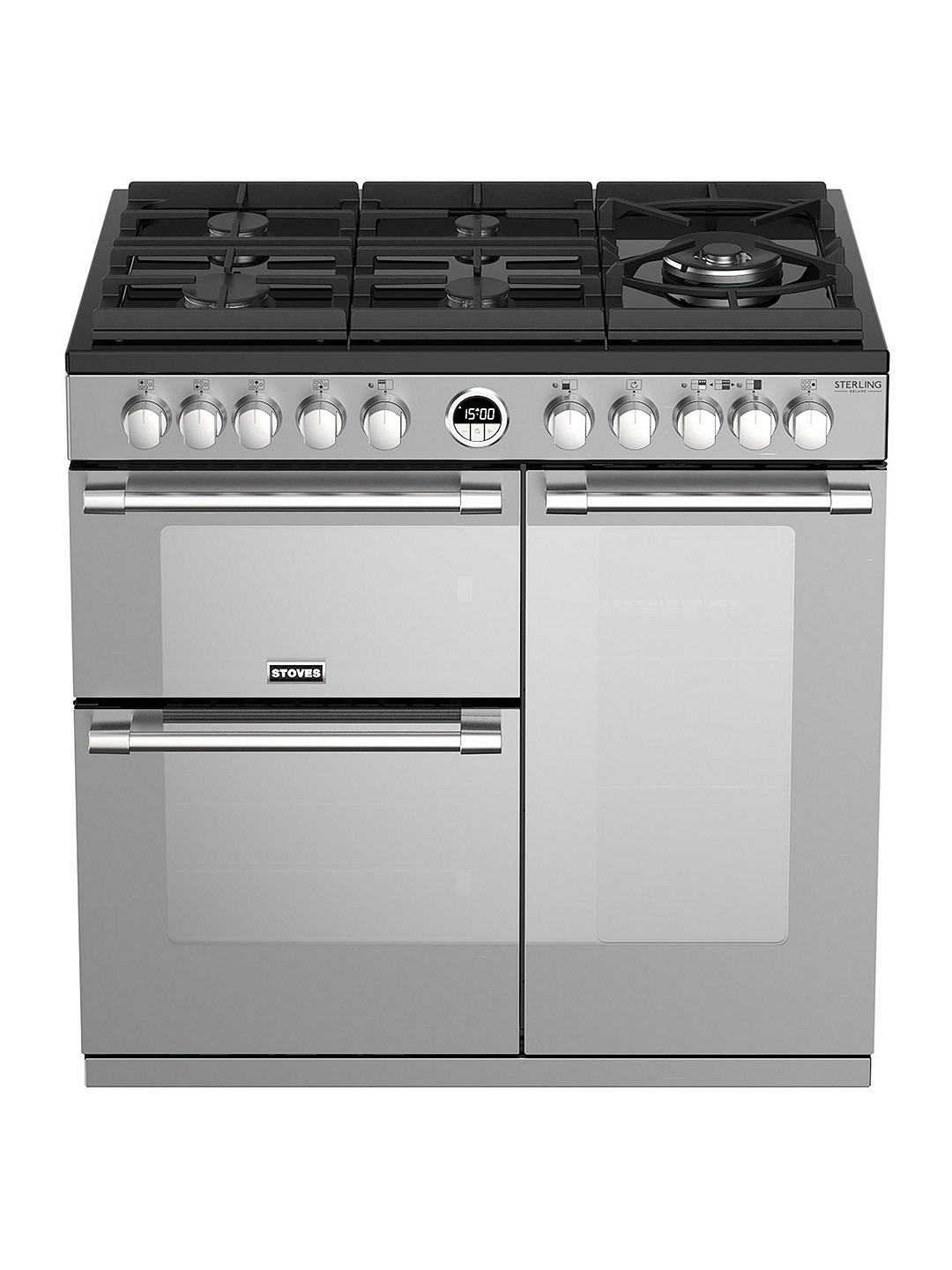 Buy Stoves Sterling Deluxe S900DF GTG Dual Fuel Range Cooker, A Energy Rating, Black Online at johnlewis.com