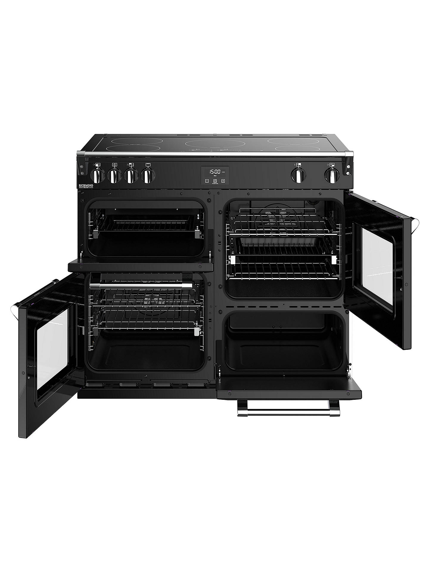 BuyStoves Richmond Deluxe S1000Ei Induction Range Cooker, Black Online at johnlewis.com