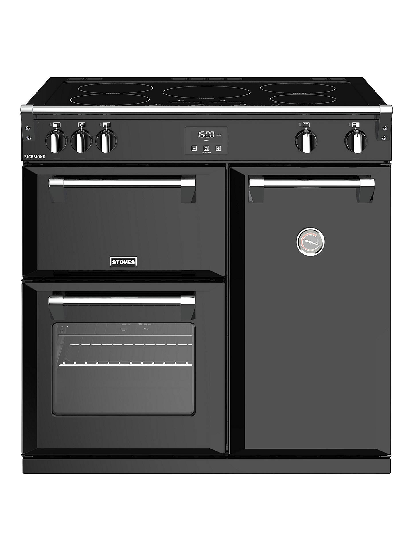 BuyStoves Richmond S900Ei Induction Hob Range Cooker, Black Online at johnlewis.com