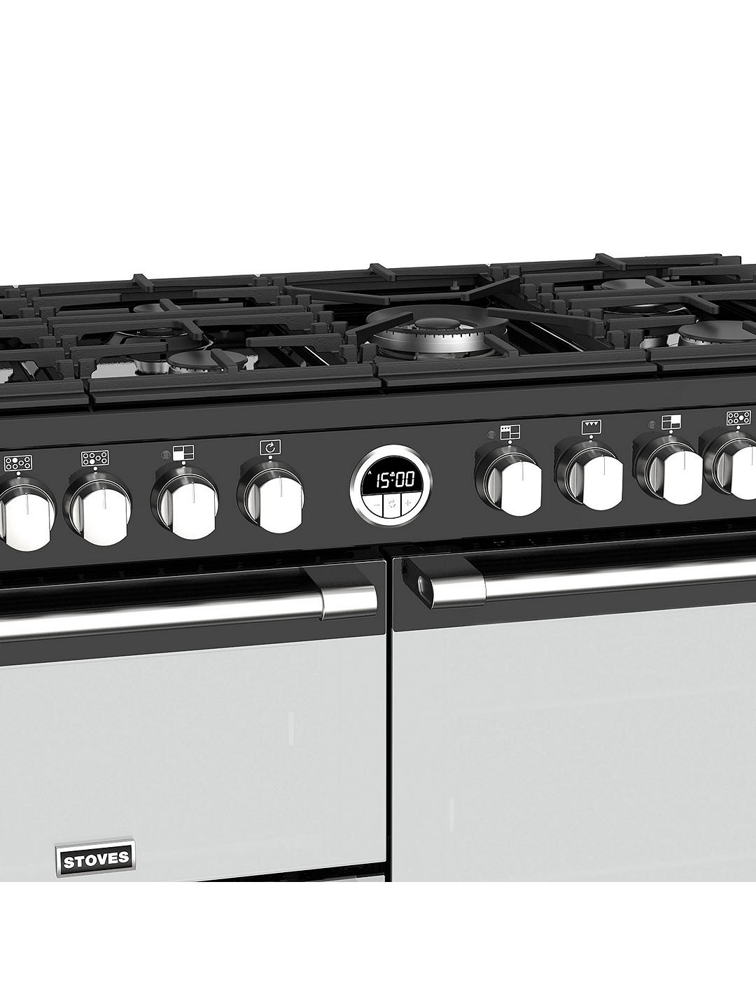 Buy Stoves Sterling S1000DF Dual Fuel Range Cooker, Black Online at johnlewis.com