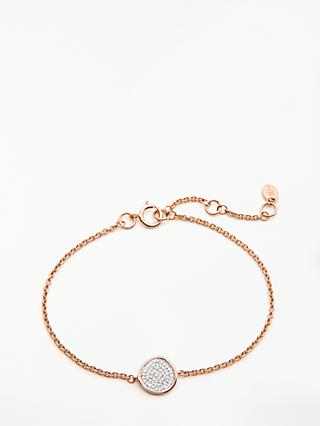 Modern Rarity Diamond Disc Chain Bracelet