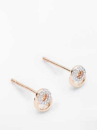 Modern Rarity Diamond Mini Link Stud Earrings