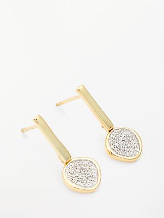 Modern Rarity Diamond Disc Drop Earrings