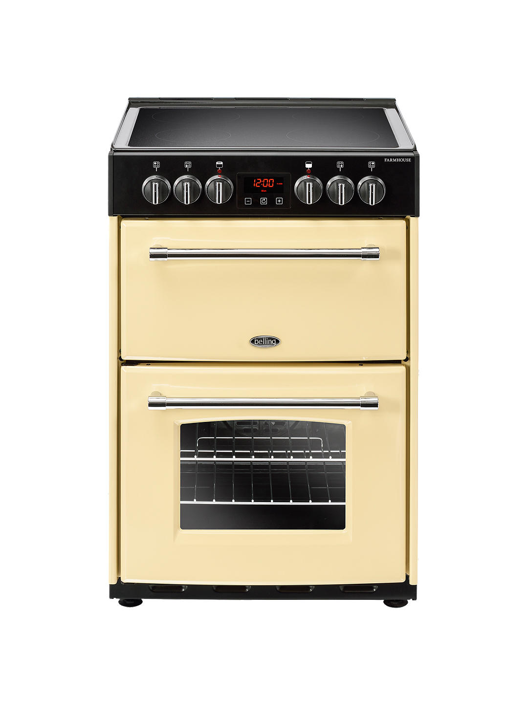 Buy Belling Farmhouse 60E Electric Cooker with Ceramic Hob, 60cm Wide, Cream Online at johnlewis.com