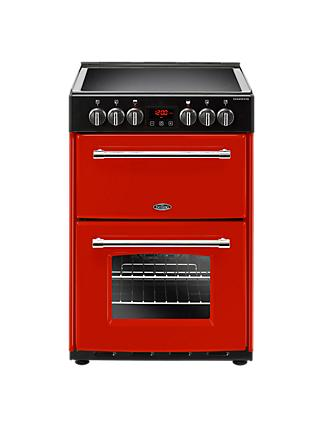 Belling Farmhouse 60E Electric Cooker with Ceramic Hob, 60cm Wide